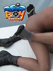Schoolboy's delicious tight man pussy gets a pounding from his soldier friend.